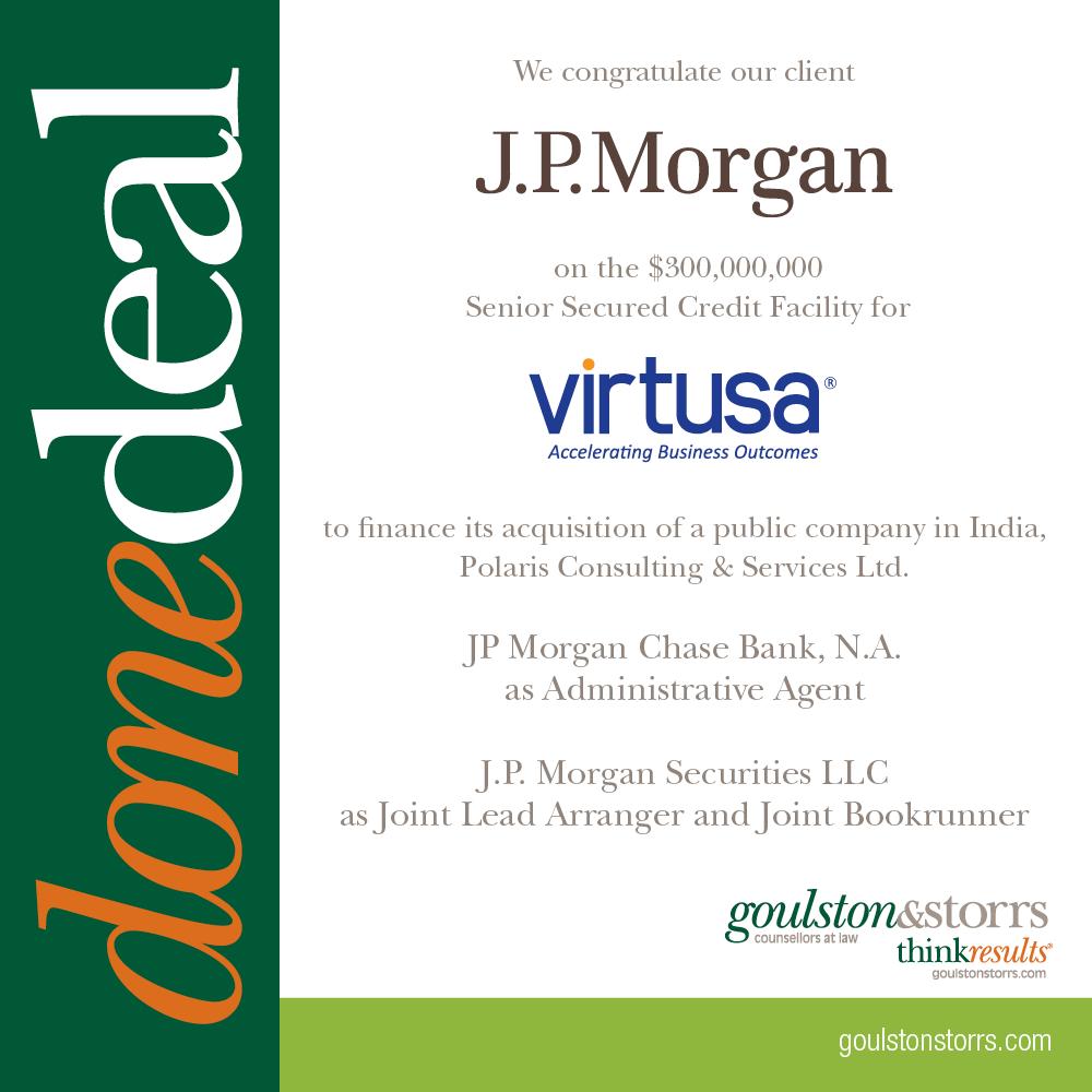 Done Deal: J.P. Morgan, Virtusa