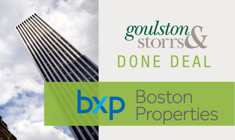 Goulston & Storrs Done Deal: Boston Properties $2.3B Refinancing of GM Building in NYC