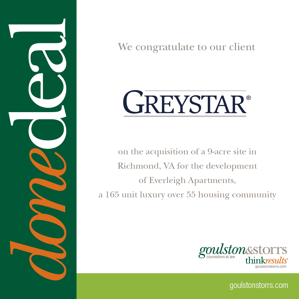 Greystar Done Deal