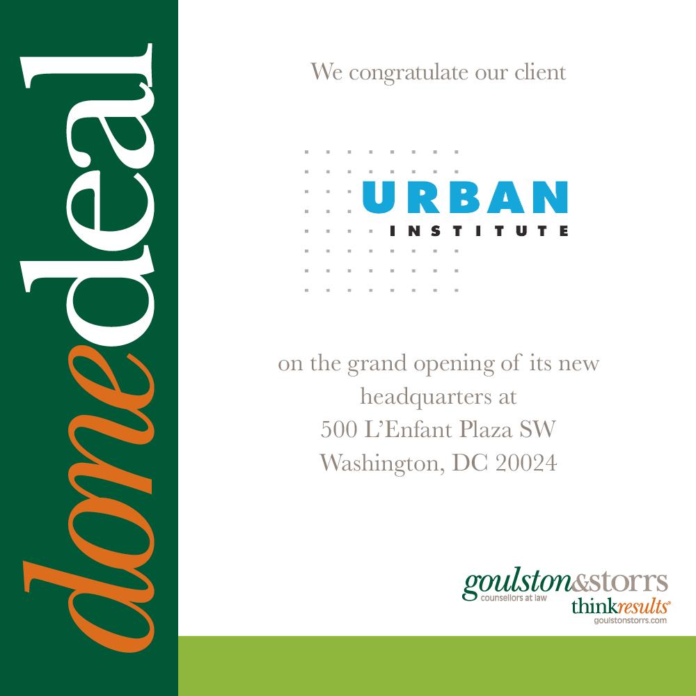 Done Deal - Urban Institute